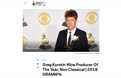 Greg Kurstin Wins Producer Of The Year | 2018 GRAMMYs