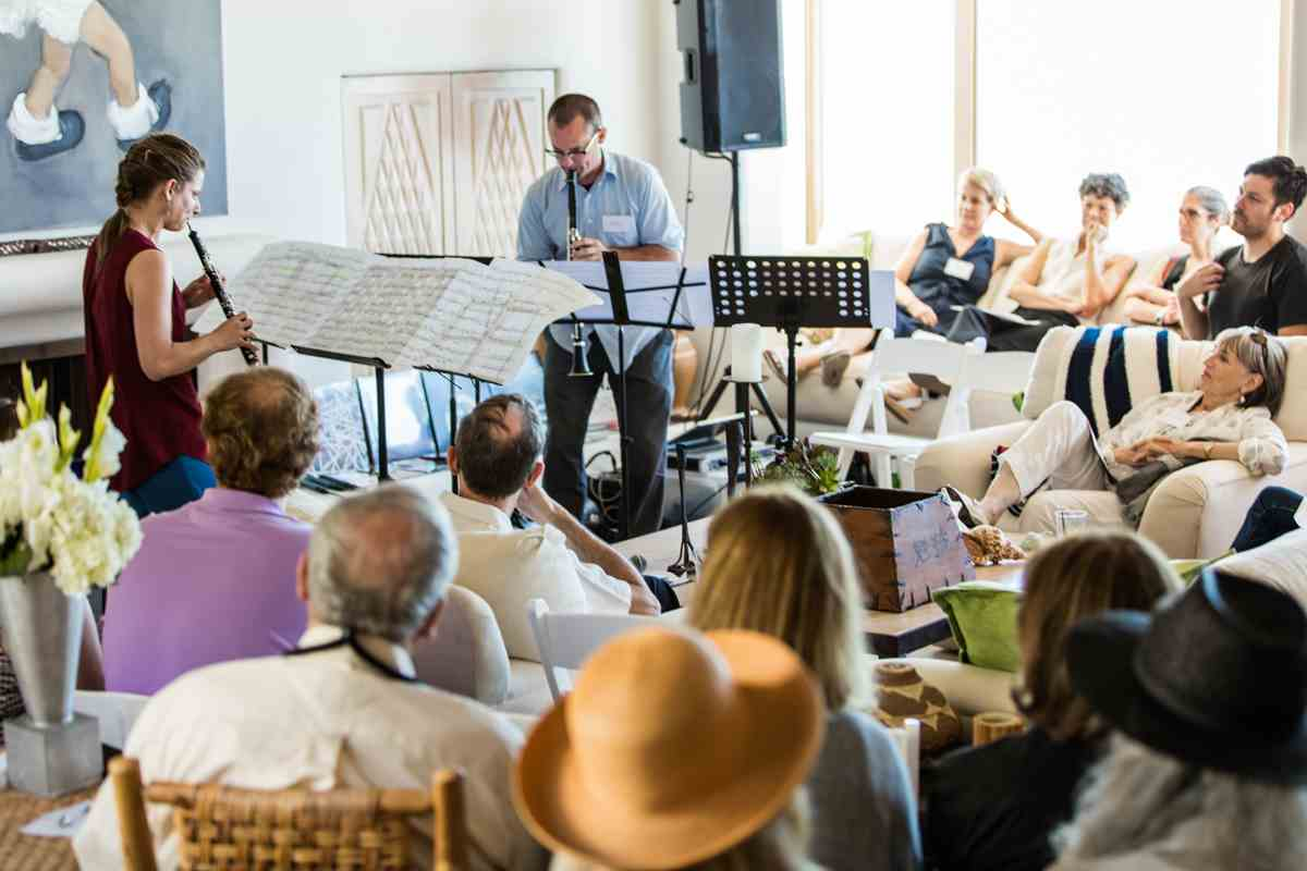 Summer soirée at a Malibu beach house with the Herb Alpert School of Music.