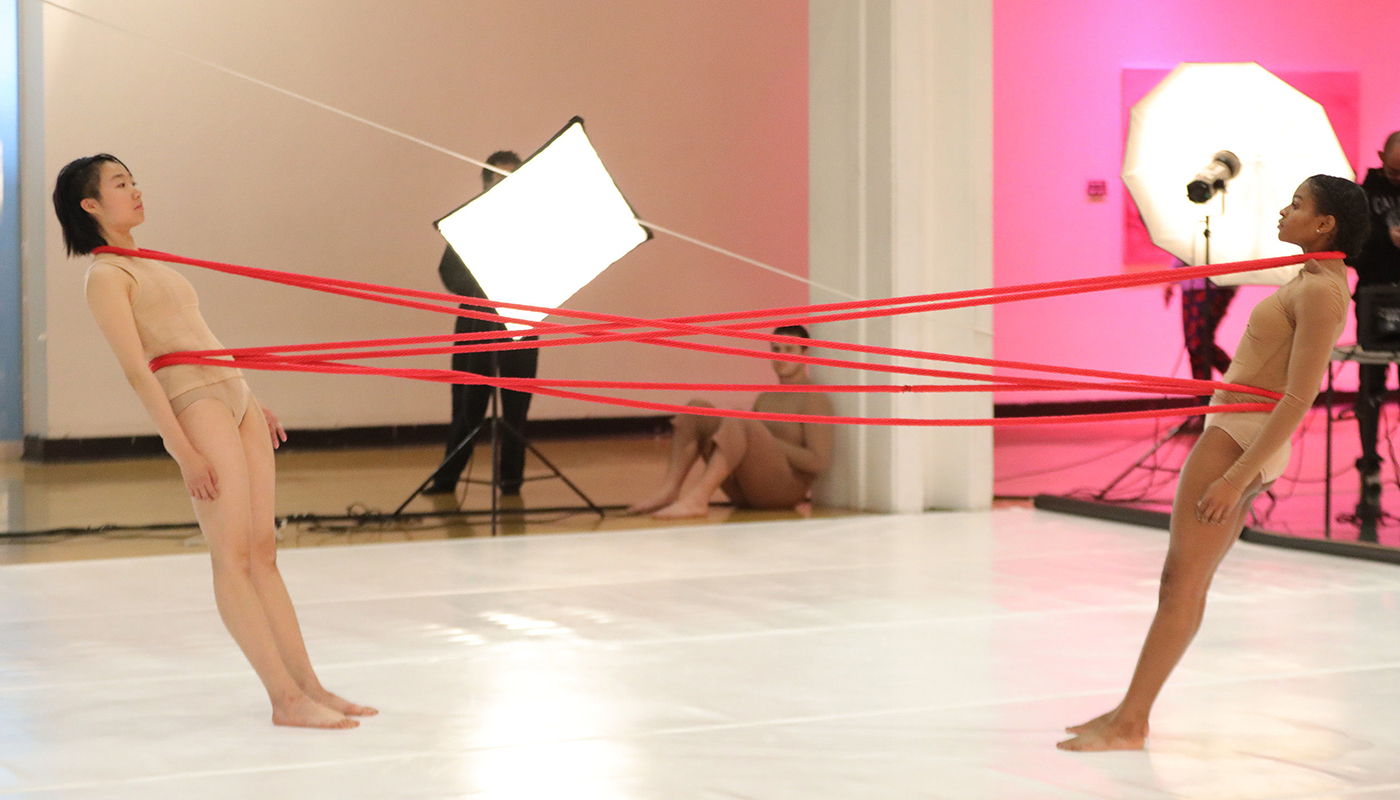"Art and Dance performance, ""Cat's Cradle"""