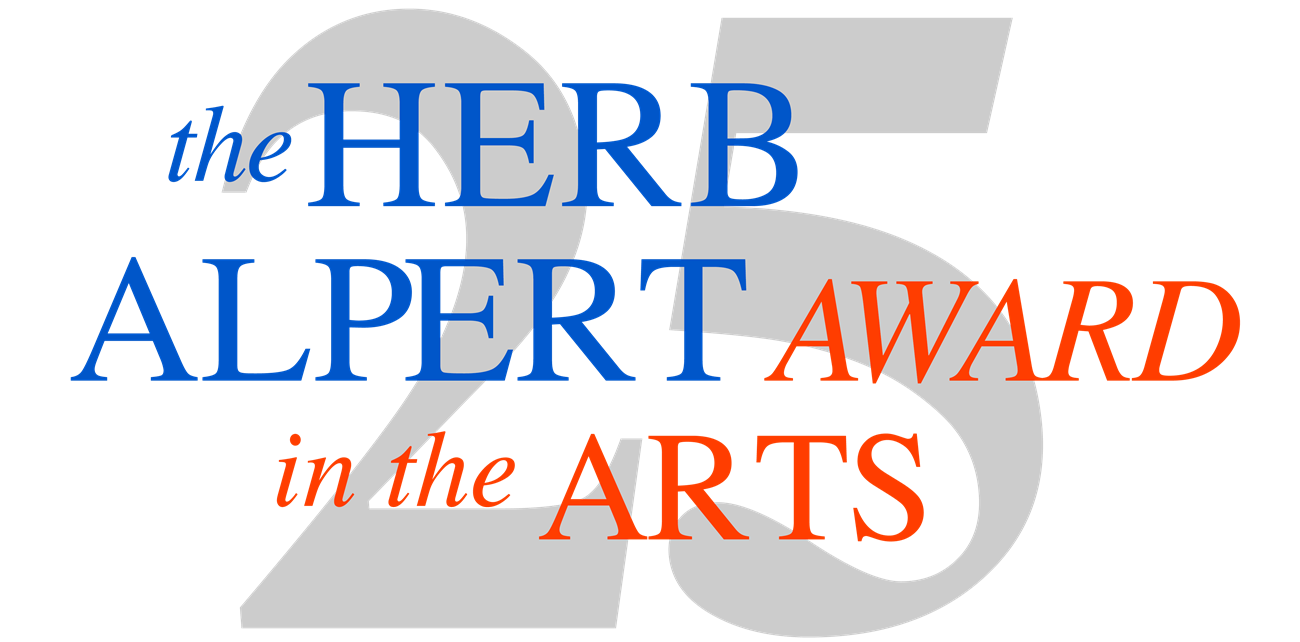 logo of the Herb Alpert Award in the Arts 25th anniversary