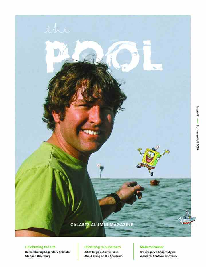 The Pool Issue 5 cover with Stephen Hillenburg on the cover