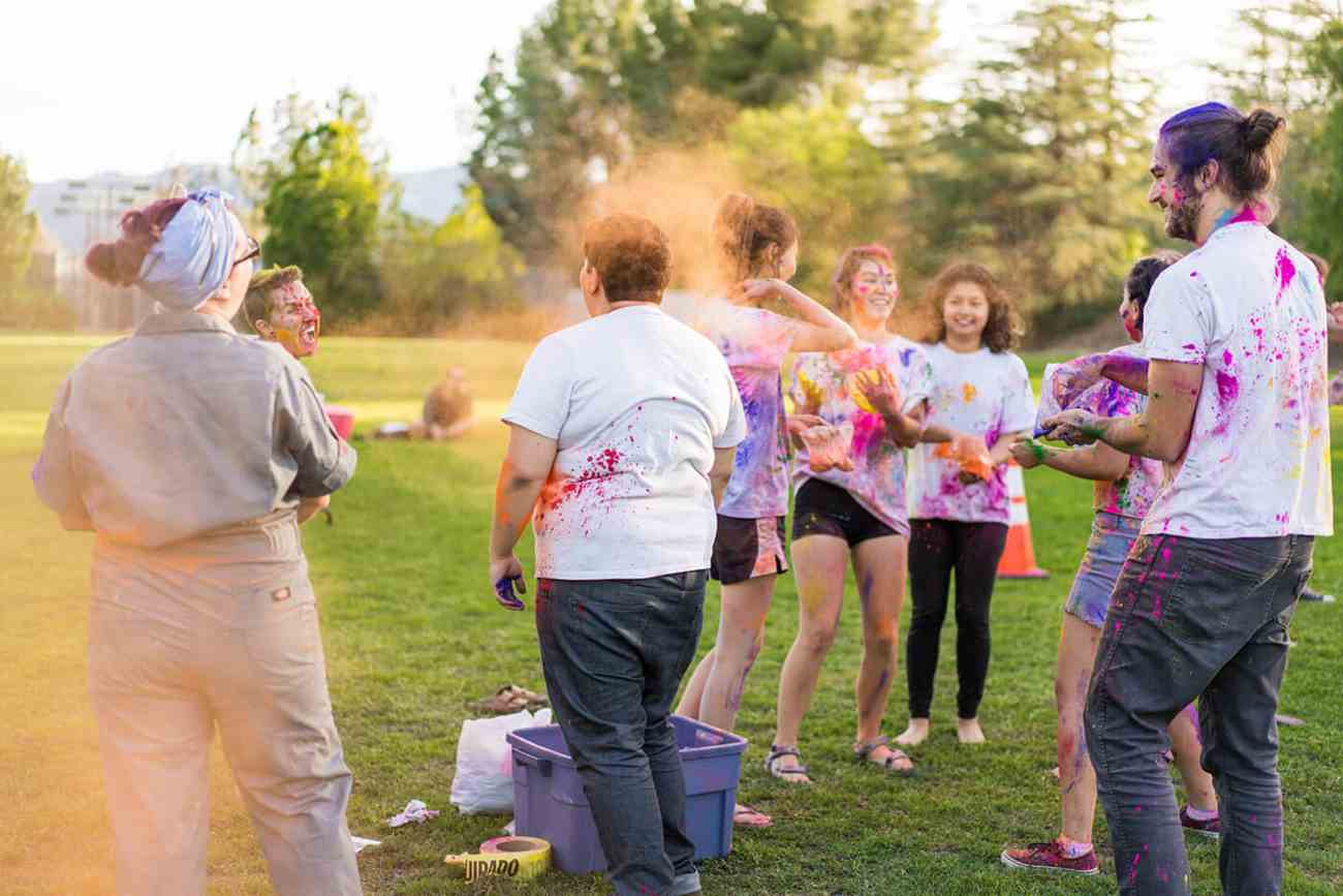 Holi at Clarks Field for International Education Week
