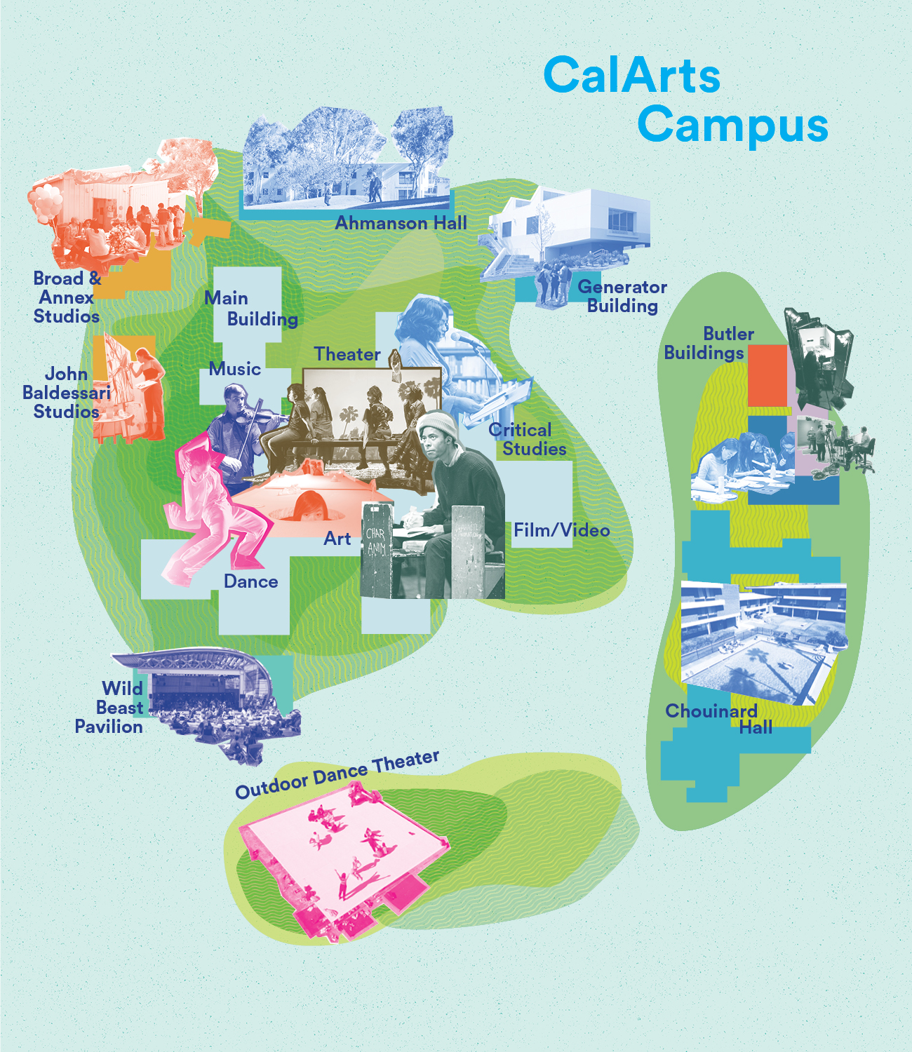 A Map of the CalArts Campus