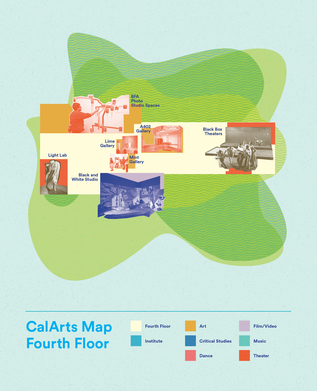 Map of CalArts Fourth Floor
