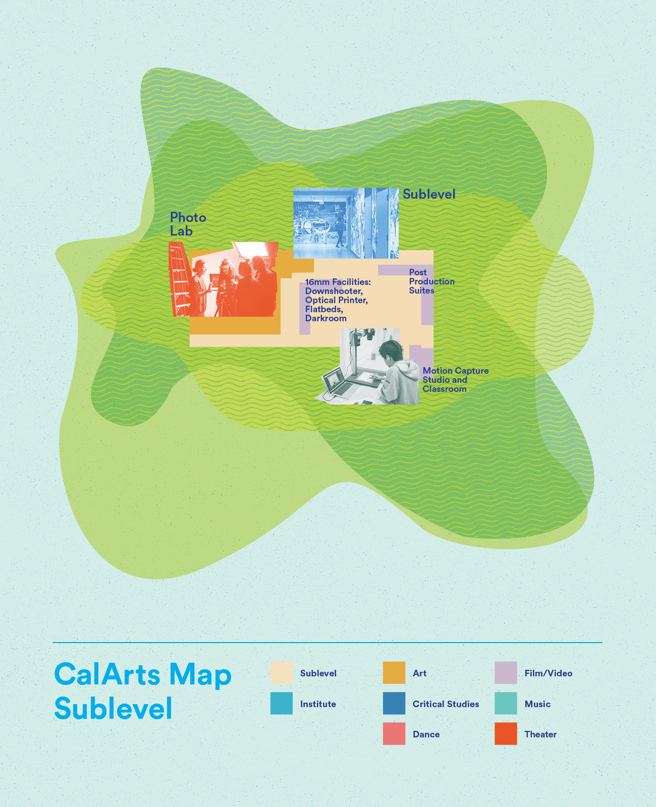 Map of the CalArts Sublevel